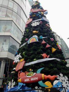 Xmas tree outside the Terminal 21 Mall