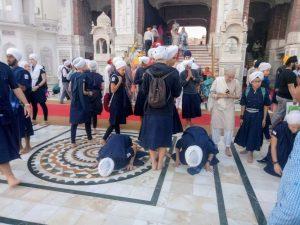 parikrama around the temple