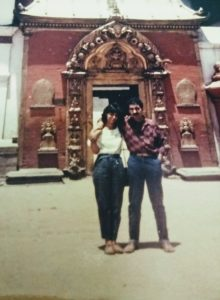 with hubby on nepal tour