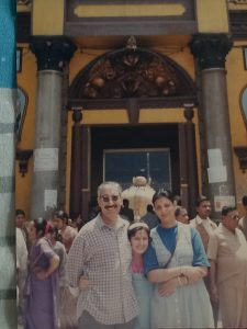 family pic at Pashupatinath Temple