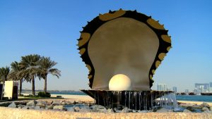 Pearl Shell Fountain Doha Qatar
